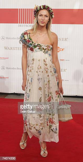 Model Mia Florentine Weiss attends the German Film Award at the Palais am Funkturm May 4 2007 in Berlin Germany