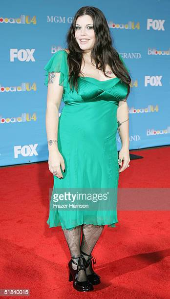 Model Mia Tyler arrives at the 2004 Billboard Music Awards on December 8 2004 at the MGM Grand Garden Arena in Las Vegas Nevada