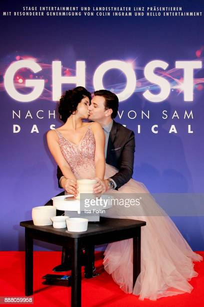 Model Micaela Schaefer and her boyfriend Felix Steiner during the premiere of 'Ghost Das Musical' at Stage Theater on December 7 2017 in Berlin...