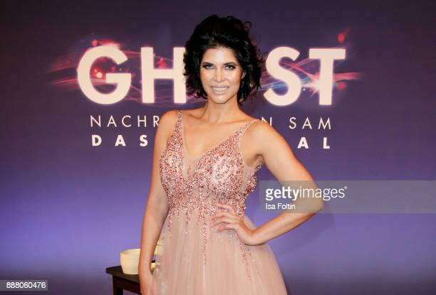 Model Micaela Schaefer during the premiere of 'Ghost - Das Musical' at Stage Theater on December 7, 2017 in Berlin, Germany.