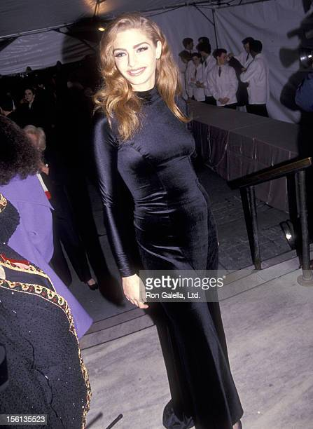 Model Michaela Bercu attends the 100th Anniversary Celebration of Vogue Magazine on April 2 1992 at the New York Public Library in New York City