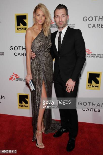 Model Michaela Kocianova and guest attend Gotham Cares Gala Fundraiser For The Syrian Refugee Crisis In Support of Medecin Sans Frontieres and The...