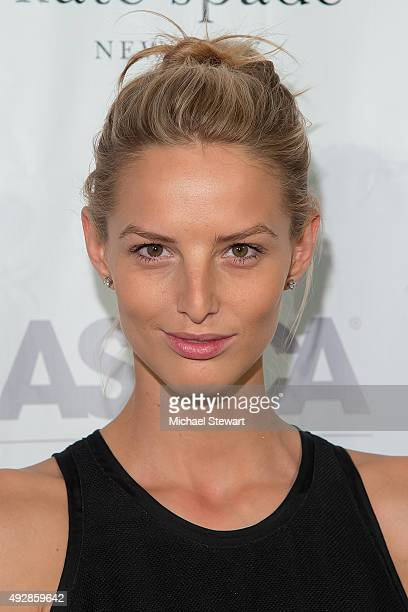 Model Michaela Kocianova attends the 2015 ASPCA Young Friends Benefit at IAC Building on October 15, 2015 in New York City.