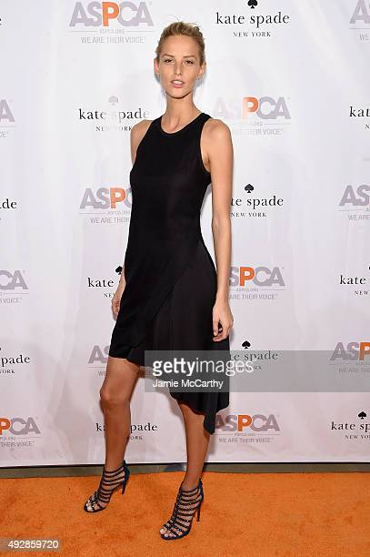 Model Michaela Kocianova attends the ASPCA Young Friends benefit at IAC Building on October 15 2015 in New York City