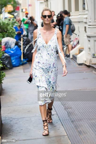 Model Michaela Kocianova is seen in SoHo on June 20 2017 in New York City