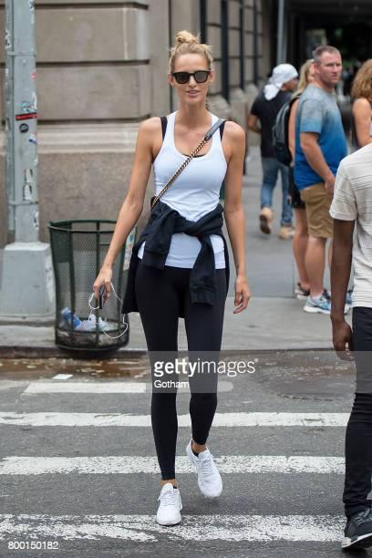 Model Michaela Kocianova is seen in SoHo on June 23 2017 in New York City