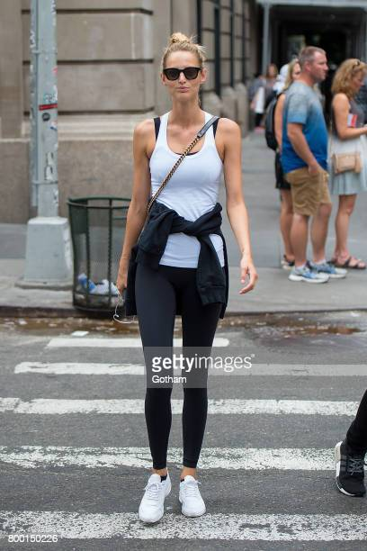 Model Michaela Kocianova is seen in SoHo on June 23 2017 in New York City
