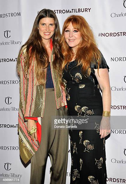 Model Michelle Alves and makeup artist Charlotte Tilbury attends 'Charlotte Tilbury arrives in America VIP Beauty Launch Event' presented by...