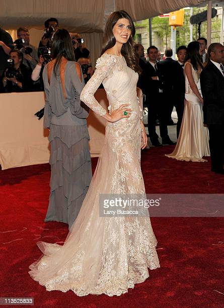 Model Michelle Alves attends the Alexander McQueen Savage Beauty Costume Institute Gala at The Metropolitan Museum of Art on May 2 2011 in New York...