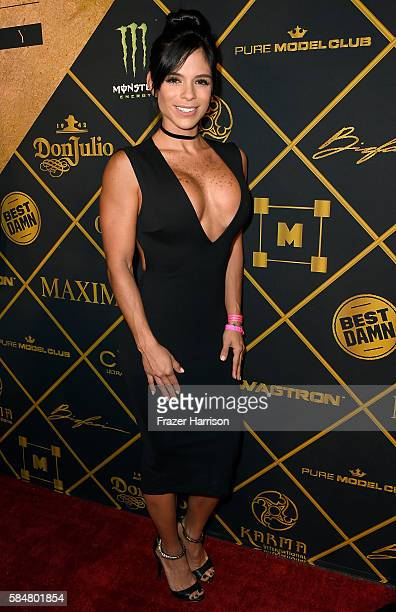 Model Michelle Lewin attends the 2016 MAXIM Hot 100 Party at the Hollywood Palladium on July 30 2016 in Los Angeles California