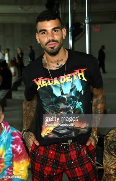 Model Miles Richie attends the R13 Front Row during New York Fashion Week on September 8 2018 in New York City