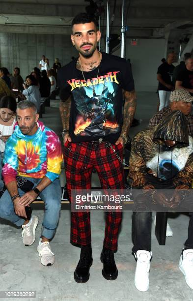 Model Miles Richie attends the R13 Front Row during New York Fashion Week on September 8, 2018 in New York City.