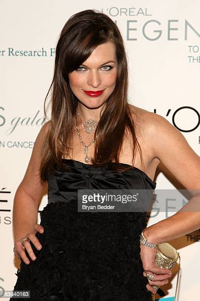 Model Milla Jovovich attends the L'Oreal Legends Gala to Benefit The Ovarian Cancer Research Fund at American Museum of Natural History on November...