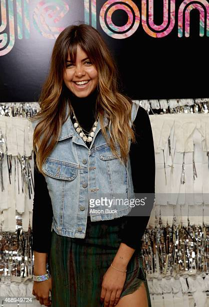 Model Mimi Elashiry attends Kari Feinstein's Music Festival Style Lounge at Sunset Marquis Hotel Villas on Apili 8 2015 in West Hollywood California