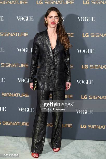 Model Minerva Portillo attends 'Vogue LG Signature' photocall at Carlos Maria de Castro Palace on December 13 2018 in Madrid Spain