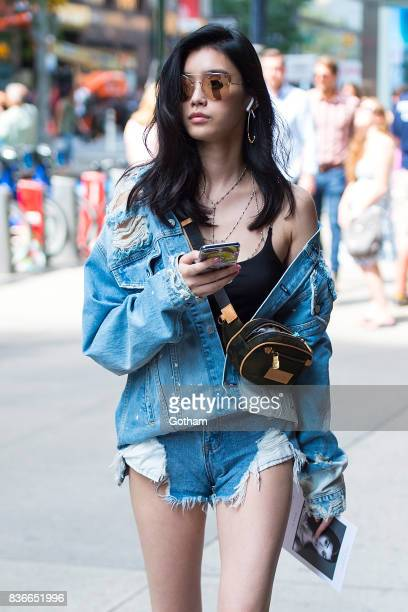 Model Ming Xi attends call backs for the 2017 Victoria's Secret Fashion Show in Midtown on August 21 2017 in New York City