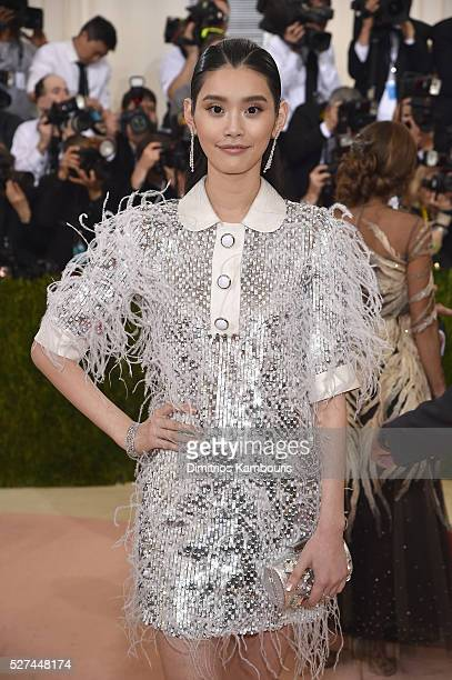 Model Ming Xi attends the 'Manus x Machina Fashion In An Age Of Technology' Costume Institute Gala at Metropolitan Museum of Art on May 2 2016 in New...