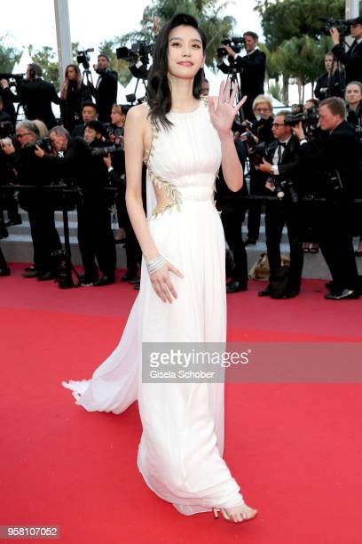 Model Ming Xi attends the screening of Sink Or Swim during the 71st annual Cannes Film Festival at Palais des Festivals on May 13 2018 in Cannes...