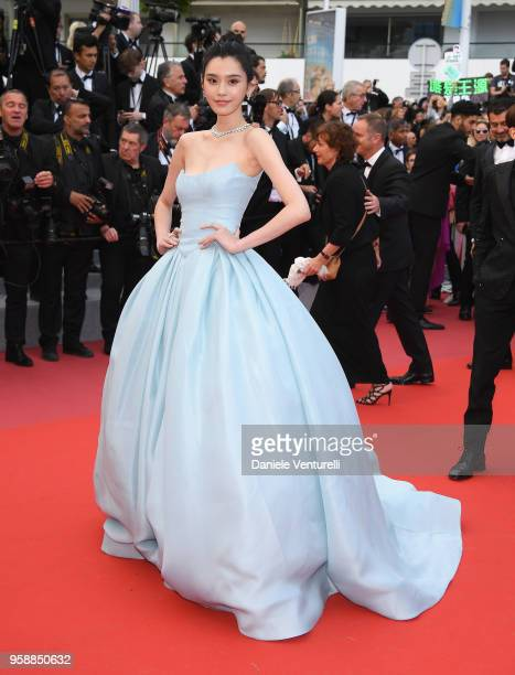 Model Ming Xi attends the screening of 'Solo A Star Wars Story' during the 71st annual Cannes Film Festival at Palais des Festivals on May 15 2018 in...
