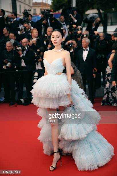 Model Ming Xi Mengyao attends the screening of 'Les Plus Belles Annees D'Une Vie' during the 72nd annual Cannes Film Festival on May 18 2019 in...