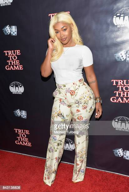Model Miracle Watts attends the premiere of Imani Motion Pictures' 'True To The Game' at Directors Guild Of America on September 5 2017 in Los...