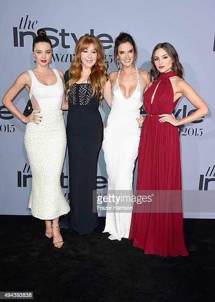 Model Miranda Ker Honoree Charlotte Tilburymodel Alessandra Ambrosio and actress Olivia Culpo attend the InStyle Awards at Getty Center on October 26...