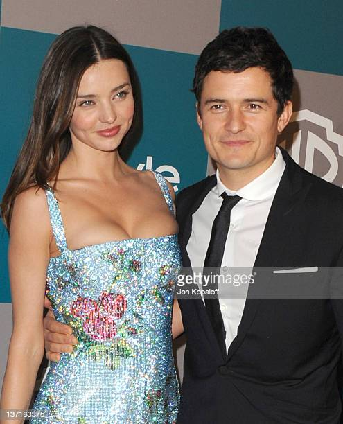 Model Miranda Kerr and Actor Orlando Bloom arrive at the 13th Annual Warner Bros And InStyle Golden Globe After Party held at The Beverly Hilton...