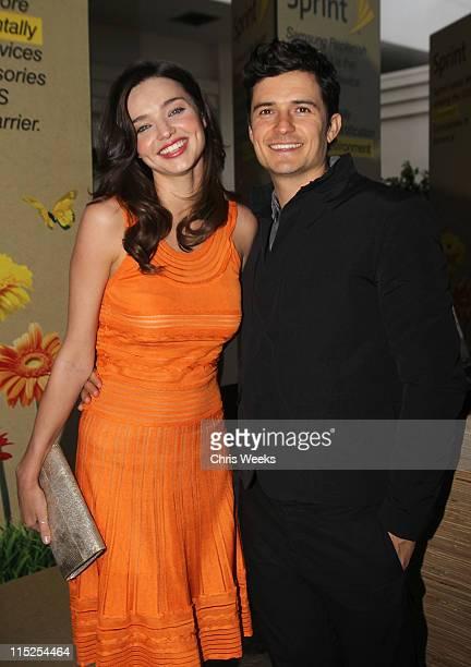 Model Miranda Kerr and actor Orlando Bloom attend the 15th annual Millennium Awards at Fairmont Miramar Hotel on June 4 2011 in Santa Monica...