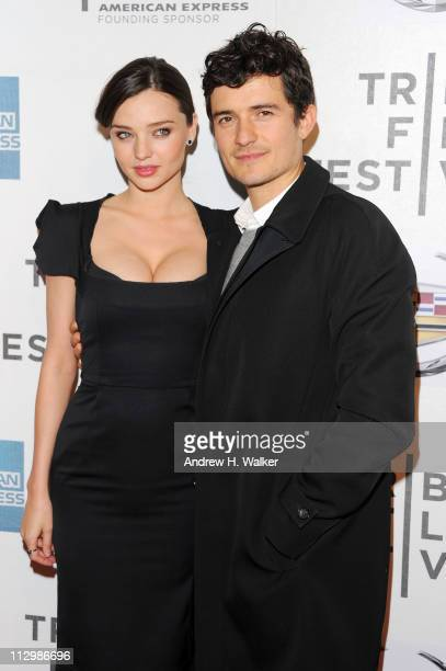Model Miranda Kerr and actor Orlando Bloom attend the premiere of The Good Doctor during the 2011 Tribeca Film Festival at BMCC Tribeca PAC on April...