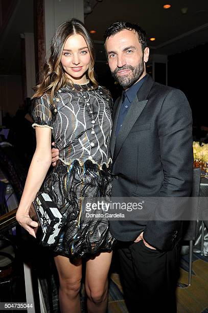 Model Miranda Kerr and Artistic Director for Women at Louis Vuitton Nicolas Ghesquiere attend the Sixth Biennial UNICEF Ball Honoring David Beckham...