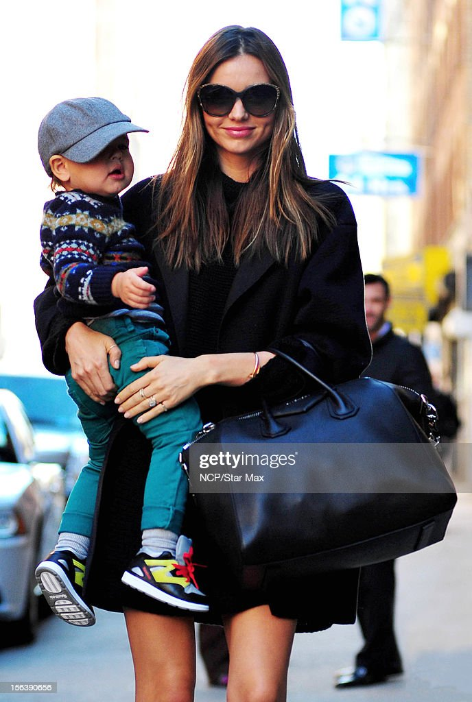 Model Miranda Kerr and Flynn Bloom as seen on November 14, 2012 in New York City.