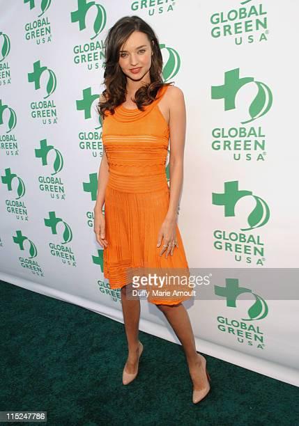 Model Miranda Kerr arrives at Global Green USA's 15th annual Millenium Awards at the Fairmont Miramar Hotel on June 4 2011 in Santa Monica California