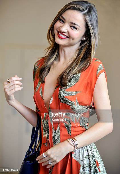 Model Miranda Kerr arrives at Narita International Airport on July 18 2013 in Narita Japan