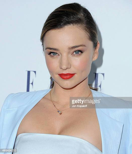 Model Miranda Kerr arrives at the 22nd Annual ELLE Women In Hollywood Awards at Four Seasons Hotel Los Angeles at Beverly Hills on October 19 2015 in...