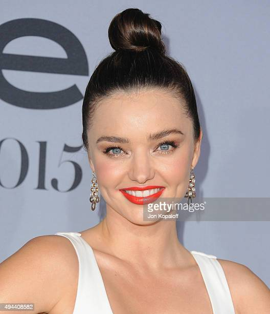 Model Miranda Kerr arrives at the InStyle Awards at Getty Center on October 26 2015 in Los Angeles California