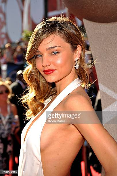 Model Miranda Kerr arrives on the red carpet at the 17th annual ESPY Awards held at Nokia Theatre LA Live on July 15 2009 in Los Angeles California...