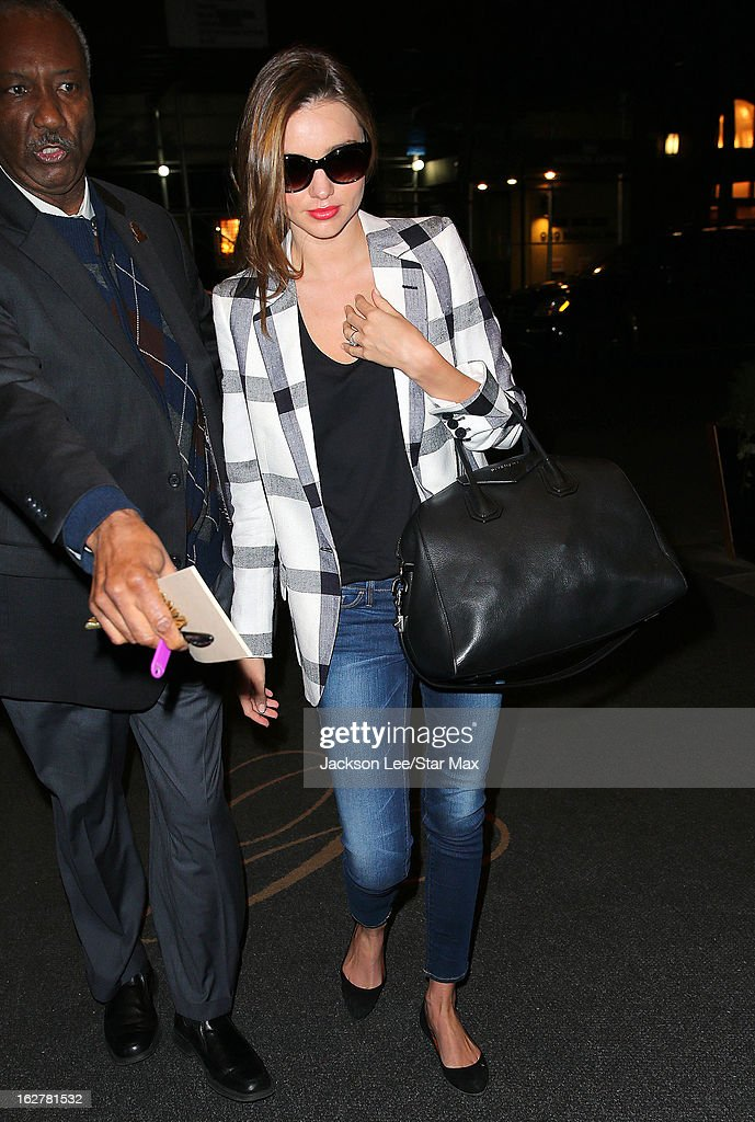 Model Miranda Kerr as seen on February 26, 2013 in New York City.