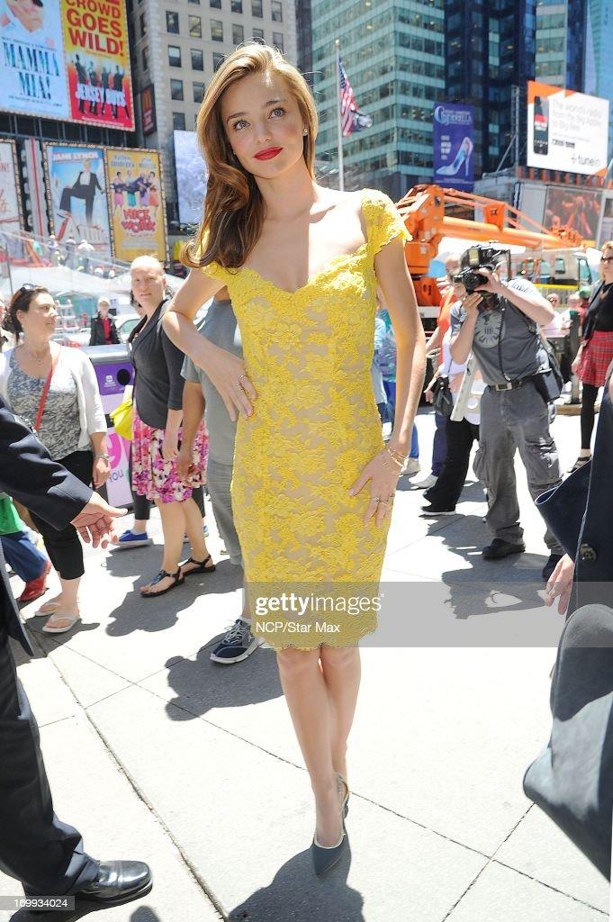 Model Miranda Kerr as seen on June 4, 2013 in New York City.