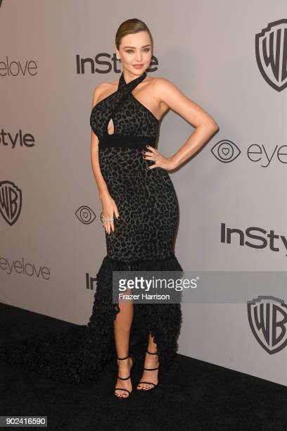 Model Miranda Kerr attends 19th Annual PostGolden Globes Party hosted by Warner Bros Pictures and InStyle at The Beverly Hilton Hotel on January 7...