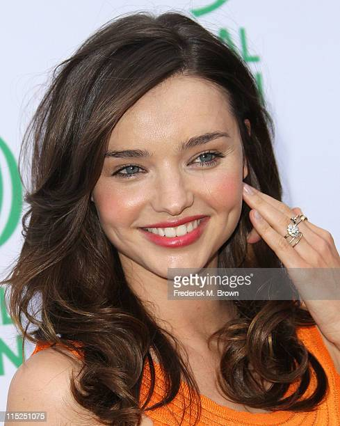 Model Miranda Kerr attends Global Green USA's 15th Annual Millennium Awards at the Fairmont Miramar Hotel and Bungalows on June 4 2011 in Santa...