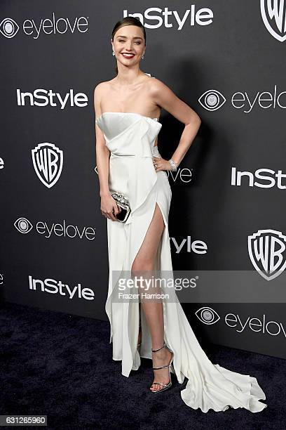 Model Miranda Kerr attends the 18th Annual PostGolden Globes Party hosted by Warner Bros Pictures and InStyle at The Beverly Hilton Hotel on January...
