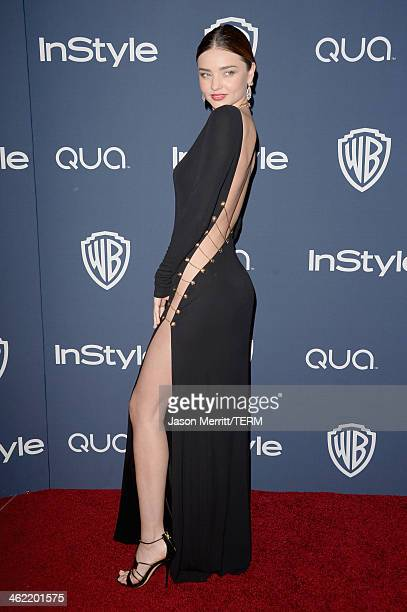 Model Miranda Kerr attends the 2014 InStyle and Warner Bros 71st Annual Golden Globe Awards PostParty on January 12 2014 in Beverly Hills California