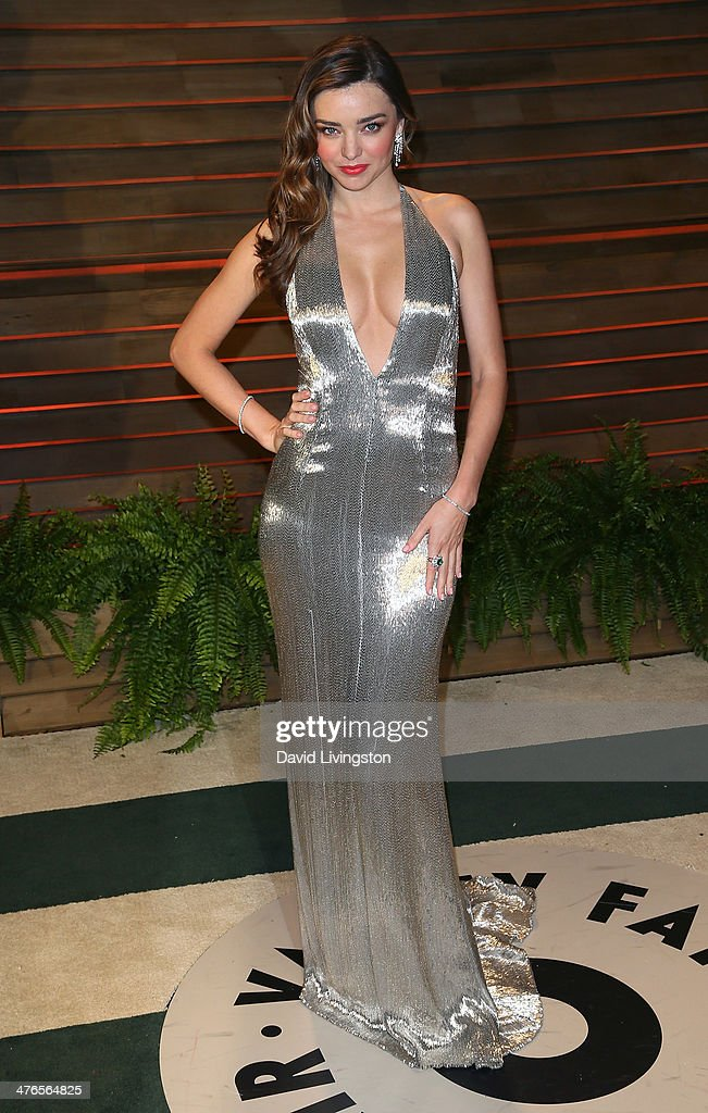 Model Miranda Kerr attends the 2014 Vanity Fair Oscar Party hosted by Graydon Carter on March 2, 2014 in West Hollywood, California.