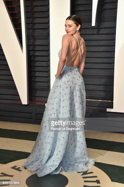 Model Miranda Kerr attends the 2017 Vanity Fair Oscar Party hosted by Graydon Carter at Wallis Annenberg Center for the Performing Arts on February...