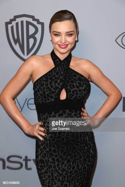Model Miranda Kerr attends the 2018 InStyle and Warner Bros 75th Annual Golden Globe Awards PostParty at The Beverly Hilton Hotel on January 7 2018...