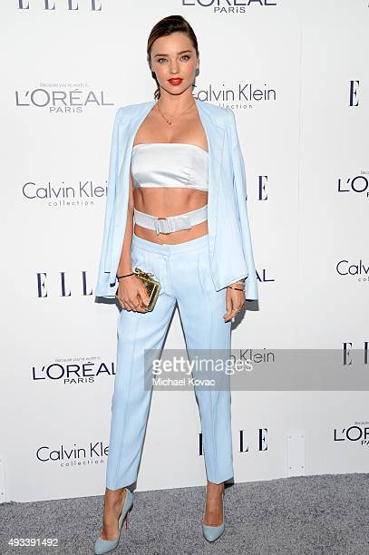 Model Miranda Kerr attends the 22nd Annual ELLE Women in Hollywood Awards at Four Seasons Hotel Los Angeles at Beverly Hills on October 19 2015 in...