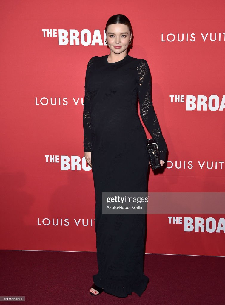 Model Miranda Kerr attends The Broad and Louis Vuitton celebrating Jasper Johns: 'Something Resembling Truth' at The Broad on February 8, 2018 in Los Angeles, California.