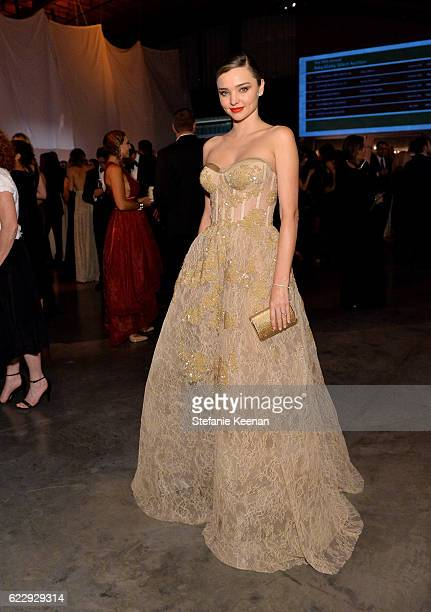 Model Miranda Kerr attends the Fifth Annual Baby2Baby Gala Presented By John Paul Mitchell Systems at 3LABS on November 12 2016 in Culver City...