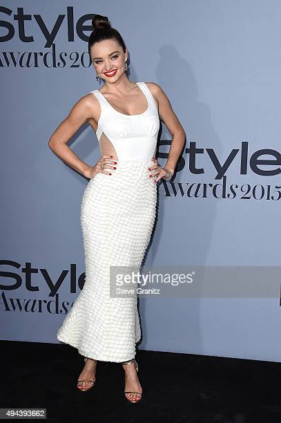 Model Miranda Kerr attends the InStyle Awards at Getty Center on October 26 2015 in Los Angeles California
