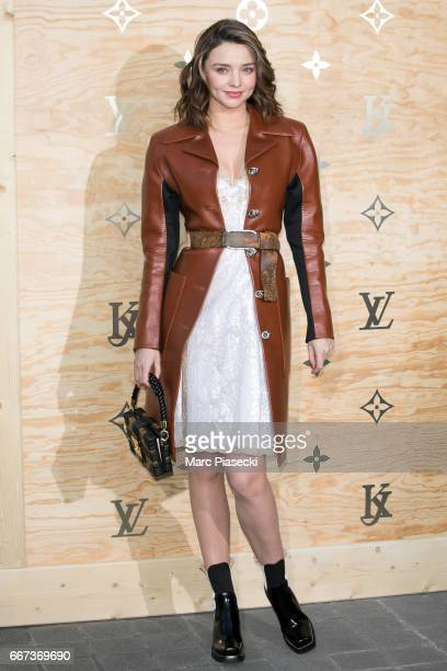 Model Miranda Kerr attends the 'Louis Vuitton Masters a collaboration with Jeff Koons' dinner at Musee du Louvre on April 11 2017 in Paris France